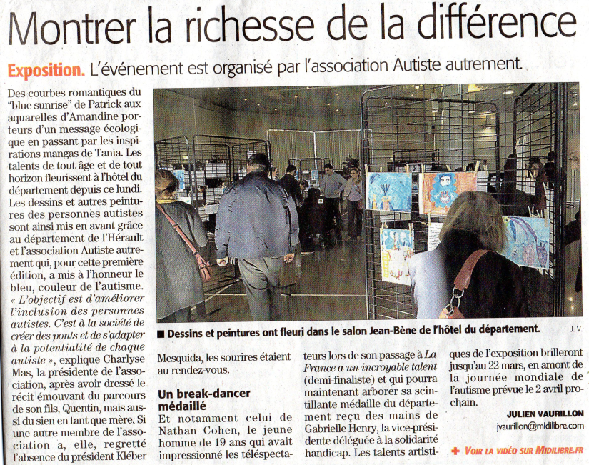 Article Midi libre vernissage 11032019